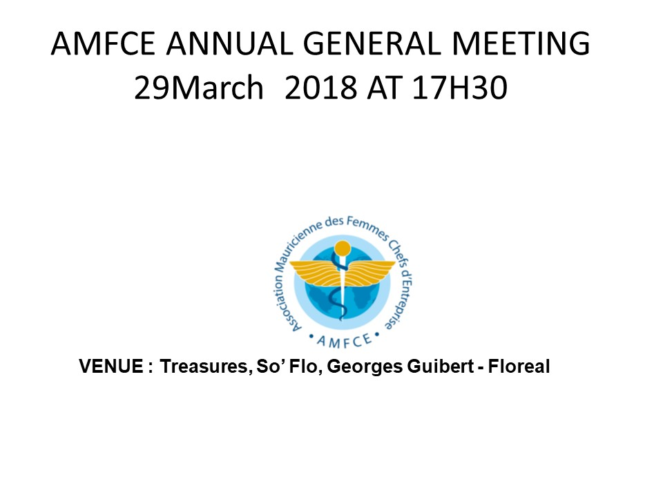 AGM 29 march 2018
