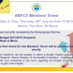 Thursday 30 July - AMFCE Budget Debrief